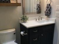 Secondary bath vanity with mirror