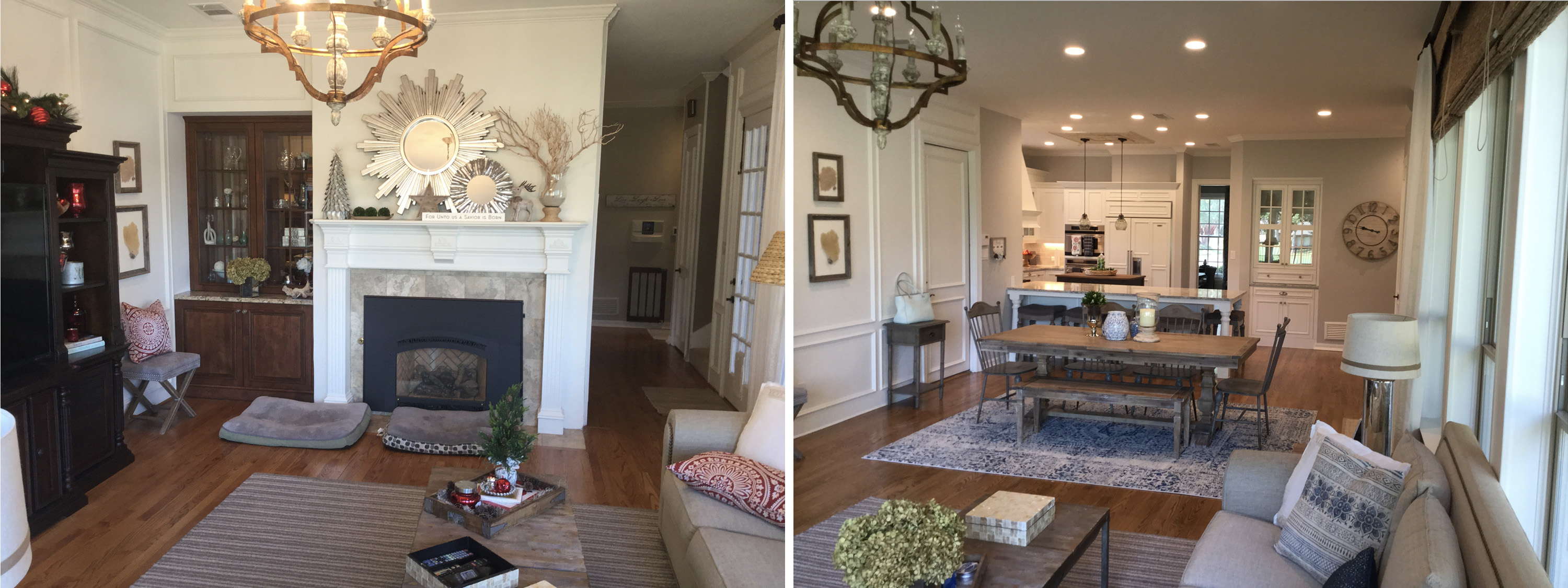 Family room facing kitchen b&a